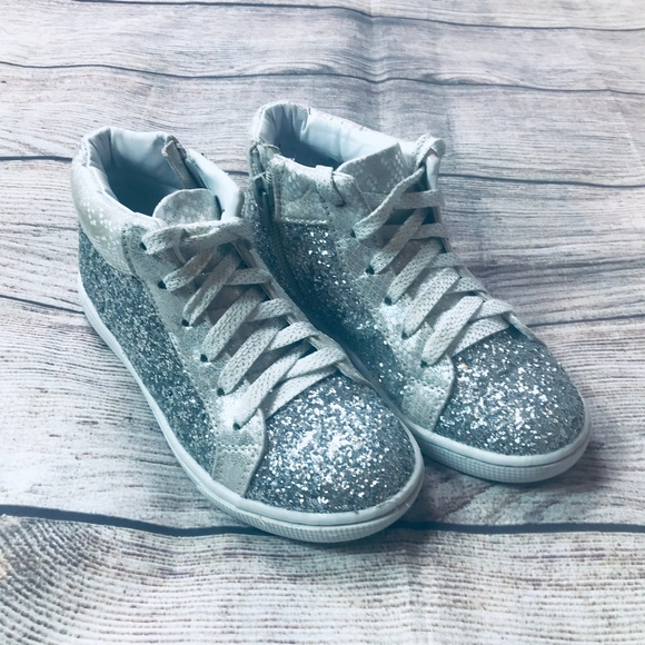 Justice Other - EUC Justice Glitter Hi-Top Sneakers Girls sz13